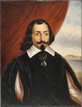 A painting of Samuel de Champlain.