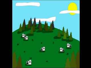 "An animation of Dana Lyons' song ""Cows With Guns"", a comedy song about the bovine revolution."