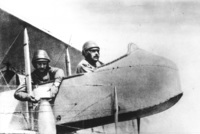 Russian aviators demonstrate early bombardment techniques, 1915.