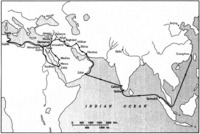 Map 11: Ibn Battuta's Return Itinerary from China to North Africa, 1346-49