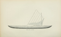 Roy Roy canoe, as illustrated by Nathaniel Bishop in his Voyage of the Paper Canoe, published in 1878.