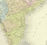Southeast India: 1890 Map