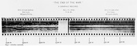 "Figure 1.3. This image represents the moment of armistice, recording artillery activity with a ""sound ranger"" (an apparatus invented in World War I to measure enemy artillery positions). It shows the cessation of fire in the flattening of white lines, which, before 11:00 a.m., oscillated with the noise"