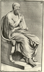"Bouchardon-Preisler engraving of ""Epicurus philosophus."""