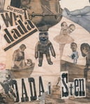 "Detail of photo collage featuring child dancer Niddy Impekoven's head on a housewife bathing a baby Dadaist and the heads of two male Dadaists montaged on the body of a dancer in pointe shoes. More heads are imposed on bodies of children and babies. Cutouts of German words and ""Dada"" are also montaged near the top and bottom of the detail."