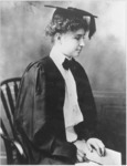 Helen Keller upon graduation from Radcliffe, 1904.