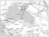 Map 7: Ibn Battuta's Itinerary in Anatolia and the Black Sea Region, 1330–32 (1332-34)