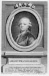 "Jean-François de Cailhava. This engraving from 1780, by Charles-Étienne Gaucher, noted for his portraits of court figures, is based on a drawing by André Pujos. It presents Cailhava in a standard academic pose; the verse compares him to Molière for his ability to combine ""tone"" and ""mores"" with commercial appeal. (Reproduced from the Bibliothèque Nationale, Département des Estampes, N2, vol. 248)"