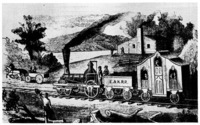 The first passenger train in Michigan