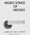 The black-and-white cover of the book Negro Songs of Protest.