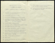 Typescript of Meyerhold's lecture notes, with each point numbered separately in a list, for the January 3, 1927 evening of debates about Inspector General.