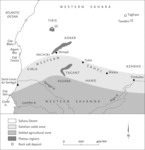 Adapted from James L. A. Webb,Desert Frontier: Ecological and Economic Change along the Western Sahel, 1600-1850 (Madison: University of Wisconsin Press, 1995), map 1.1, p. 6.