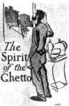 "Jacob Epstein, ""The Spirit of the Ghetto"" (frontispiece for Hutchins Hapgood, The Spirit of the Ghetto: Studies of the Jewish Quarter of New York [1902; reprint, New York: Schocken, 1965]; image from the collection of the Tamiment-Wagner Labor Archives, New York University). The drawing captures the way Jewish workers talked about their labor in the sweatshop. Epstein alludes to the abominable conditions of labor in the sweatshops, not by drawing a cramped, filthy space, but by focusing on the deformed, obviously Jewish tailor's body. The conditions of work are etched on the male worker's enfeebled frame."