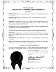 This image is the text of a Friendship Proclamation Issued by Oberlin City Council and delivered every year by Oberlin Mayor or city Manager to an annual Friendship Festival at Oberlin College. Identical Friendship Proclamations have been continuously adopted by the Oberlin City Council since 2010. The Proclamation consists of six preambular paragraphs reflecting on how friendship transcends ethnic, religious, political and cultural borders and therefore is valued universally. The operative paragraph of the proclamation declares support for an annual National American Friendship Day.