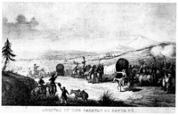 ARRIVAL OF THE CARAVAN AT SANTA FE.