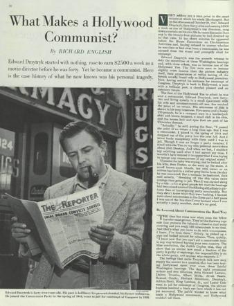 "English, ""What Makes a Hollywood Communist?"" Saturday Evening Post"
