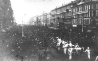 The public funeral of Lev Matsievich in St. Petersburg, 28 September 1910.