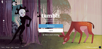 This image shows a copy of the Tumblr.com web landing homepage.