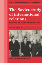 Cover image for The Soviet study of international relations