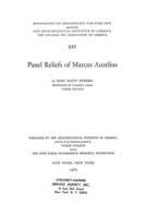 Cover image for Panel reliefs of Marcus Aurelius