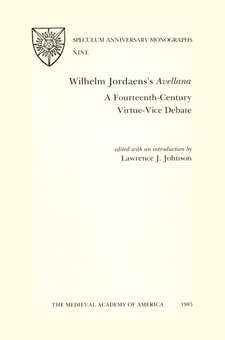 Cover image for Wilhelm Jordaens's Avellana: a fourteenth-century virtue-vice debate