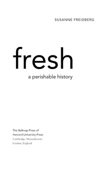 Cover image for Fresh: a perishable history