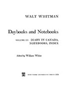 Cover image for Daybooks and notebooks, Vol. 3