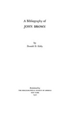 Cover image for A bibliography of John Brown