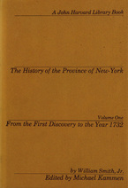 Cover image for The history of the Province of New-York, Vol. 1