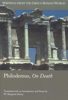 Cover image for Philodemus, On death