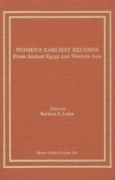 Cover image for Women's earliest records: from ancient Egypt and western Asia