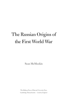 Cover image for The Russian origins of the First World War