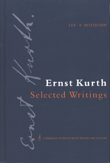 Cover image for Ernst Kurth: selected writings