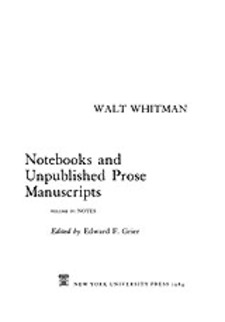Cover image for Notebooks and unpublished prose manuscripts, Vol. 4