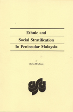 Cover image for Ethnic and social stratification in peninsular Malaysia