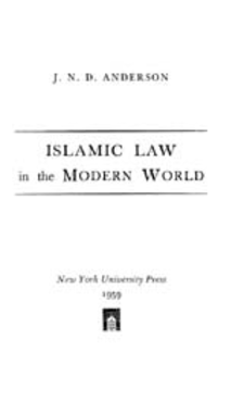 Cover image for Islamic law in the modern world