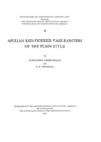 Cover image for Apulian red-figured vase-painters of the plain style