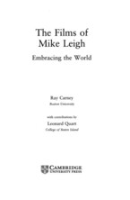 Cover image for The films of Mike Leigh: embracing the world
