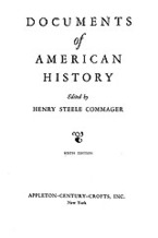 Cover image for Documents of American history