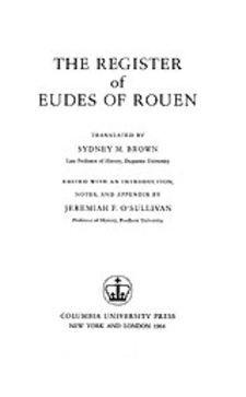 Cover image for The register of Eudes of Rouen