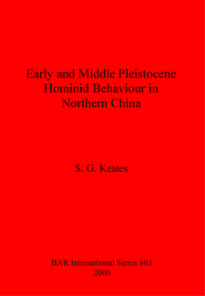 Cover image for Early and Middle Pleistocene Hominid Behaviour in Northern China