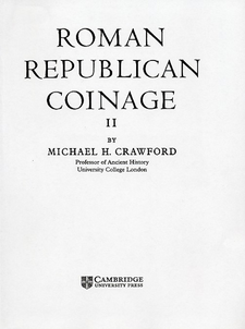Cover image for Roman Republican coinage, Vol. 2
