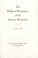 Cover image for The religious Renaissance of the German Humanists
