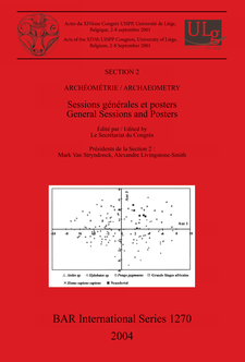 Cover image for Archéométrie / Archaeometry: Sessions générales et posters / General Sessions and Posters