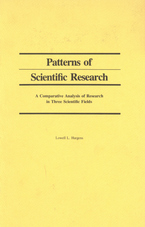 Cover image for Patterns of scientific research: a comparative analysis of research in three scientific fields