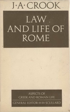 Cover image for Law and life of Rome