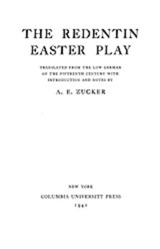 Cover image for The Redentin Easter play