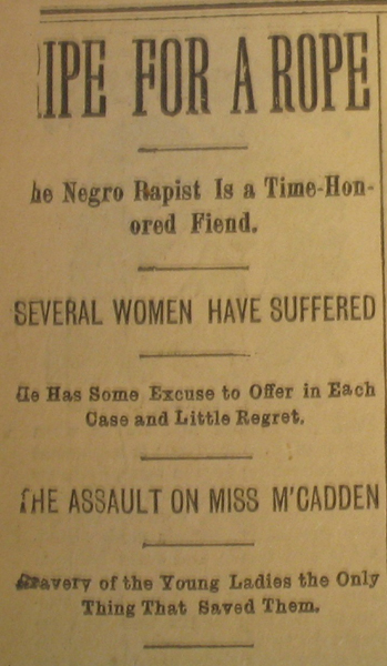 Headline, Memphis Public Ledger, July 22, 1893, p. 6. Courtesy of the Memphis and Shelby County Room, Memphis Public Library and Information Center.