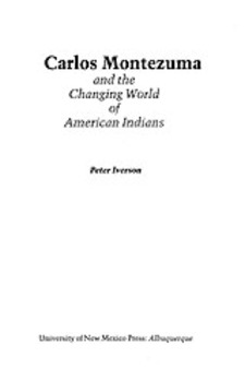 Cover image for Carlos Montezuma and the changing world of American Indians