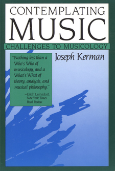 Cover image for Contemplating music: challenges to musicology